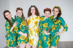 Teal Sunflower Pattern | Fabric Code - LL11