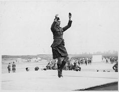 Archives of Ontario. WWI era soldier highland dancing.