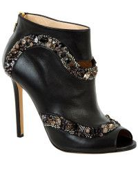 Elie Saab | Embellished Open Toe Leather Boot
