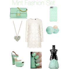 Mint Fashion Set for Summer by jessicakay-i on Polyvore featuring polyvore, fashion, style, Topshop, Steve Madden, Fendi, Betsey Johnson, Eos and Anna Sui #summerfashion #fashion