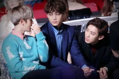 Baekhyun, Kai e Chanyeol EXO MAMA 2015