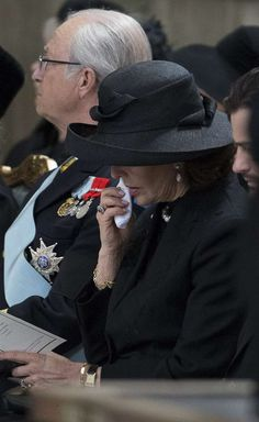 Queen Silvia weeps for the loss of dear family member Princess Lilian of Sweden 3/15/13