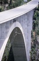 Bloukrans Bridge in South Africa - World's highest commercial buggy jump.