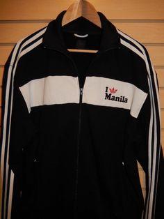 RARE 2008 Adidas Originals I Love Manila Track Jacket Full Zip Black Cotton XL #adidas #CoatsJackets