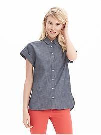 Cuffed Chambray Shirt