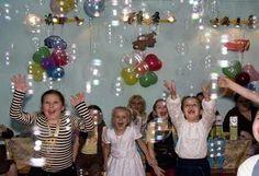 Детский праздник с мыльными пузырями