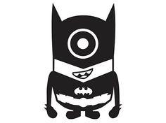 Minion Batman Laptop Car Truck Vinyl Decal by PirateVinylDecals, $3.50