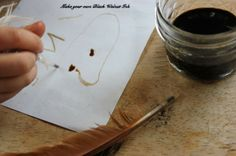make your own ink from black walnuts