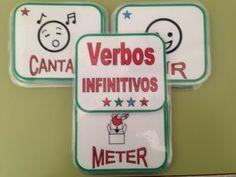 AUDICIÓN Y LENGUAJE: Barajas y otros juegos (Gramática - Morfosintaxis) Mural Digital, Teaching, Verb Tenses, Teaching Strategies, Alphabet Soup, Learn Spanish, Education, Onderwijs, Learning