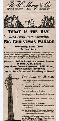 """The first Macy's Thanksgiving Day Parade took place in 1924 and was actually called """"The Christmas Parade."""