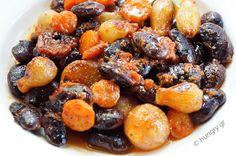 Kitchen Stories: Black Giant Beans with Stewed Onions