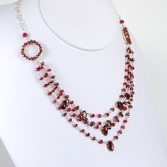 Ruby Necklace Ruby Statement Necklace Ruby Garnet and por agusha