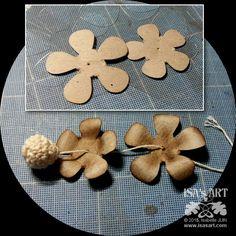 ISA'sART: FLOWER - Fleur centre crochet (P156-P157)