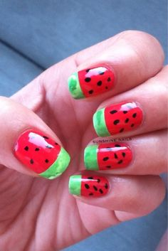 Sunshine Nails: ABC Challenge - W is for Watermelon