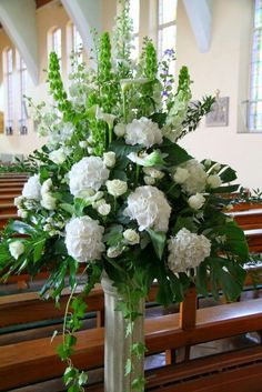 Altar flowers for a church wedding