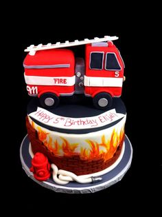 Firefighter-themed Birthday Cake | Shared by LION