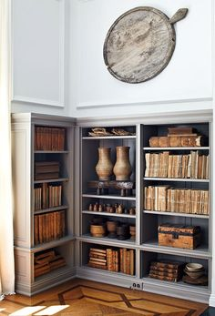Instead of a home library, I plan to have floor to ceiling bookshelves on both sides of a wide hallway, to save space.