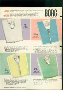 1961 Rocket Head Borg Bathroom Scale Ad