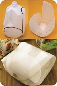 Embalagem plástica reutilizada. http://www.bananacraft.com/blog/reciclagem/2013/05/16/13-maneiras-de-reaproveitar-embalagens-plsticas/