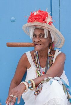 The traditional cigar lady of Cuba - Image  by HarryJayphotos