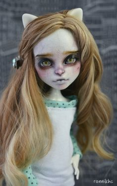 OOAK Monster high doll repaint custom Catrine DeMew от RonnikBC