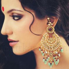 Fulfill a Wedding Tradition with Estate Bridal Jewelry Indian Accessories, Jewelry Accessories, Fashion Accessories, Jewelry Design, Fashion Jewelry, Fashion Earrings, India Jewelry, Ethnic Jewelry, Gold Jewellery