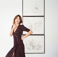 jeanne damas rouje dress