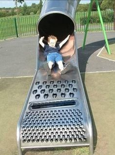Cheese grater slide - LOL