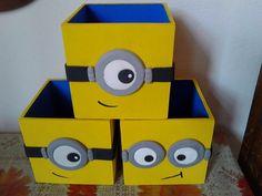 Cajitas Para Centros De Mesa Los Minions - Bs. 2.000,00 en Mercado Libre
