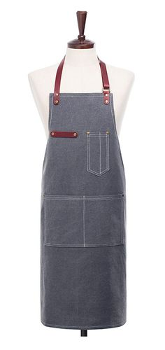 Premium Gift for woman and man Chef Works Handmade by Cozymomdeco Apron Pattern Free, How To Purl Knit, Knit Purl, Leather Apron, Vintage Canvas, Canvas Leather, Linen Fabric, One Size Fits All, Real Leather