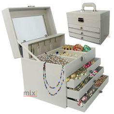 maleta estojo porta joias bijuterias acessórios pulseira brincos aneis
