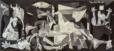 Guernica is one of Pablo Picasso most famous paintings, showing the tragedies of war and the suffering it inflicts upon individuals, particularly innocent civilians. Picasso's purpose in painting it was to bring the world's attention to the bombing of the Pablo Picasso, Picasso Guernica, Kunst Picasso, Art Picasso, Picasso Paintings, Spanish Painters, Spanish Artists, Prado, Art History