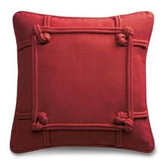Knotted Indoor Throw Pillow - another red to go with my mirror. Getting ready for Chinese New Year