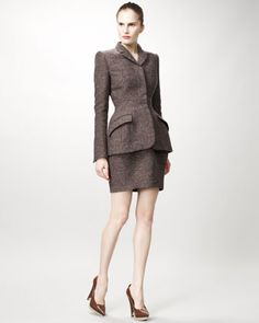 Stella: Tailored Jacket with Peplum Shape & Tulip-Shape Skirt