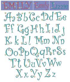 Alphabet Dots Flower Machine Embroidery Font | Designs by JuJu
