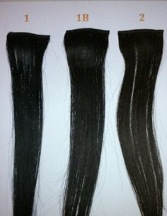 "14"" Remy 100% Human Hair Clip On In Extension 6"" Wide Piece Color 2 Darkest Brown"