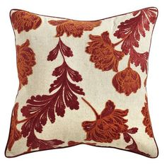 Labor Day Party Decor: Simple and Comfy. Damask Pillow