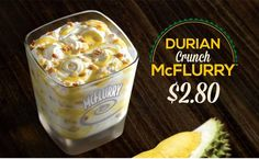 Singapore (yes, again with Singapore) has the Durian McFlurry to add to the world's arsenal of crazy/weird/unique (or all of the above) McFlurries. The durian is that nightmarish and smelly fruit with all those spikes, in case you've never gawked at one before.