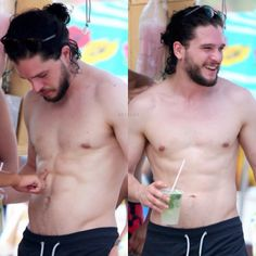 """""""Apparently the owner of an establishment he was at asked to touch his abs. U lucky little hoe #JEALOUS x284928 - Kit Harington in Brazil on New Years Eve…"""""""