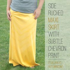 Ruched maxi skirt tutorial
