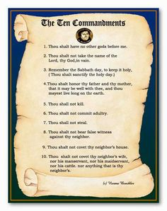The Ten Commandments in the original Hebrew are not numbered, thus several different numerations exist. In Luther's, the first three deal with honoring God. The second turns us toward love of neighbor, starting in the home with the family. Much like honoring God, we should honor those who helped give us life. The remainder deal with life in community.