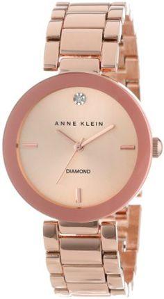 Reloj Anne Klein Tono oro - rosa con detalles de diamantes AK/1362RGRG   | $255,000.00