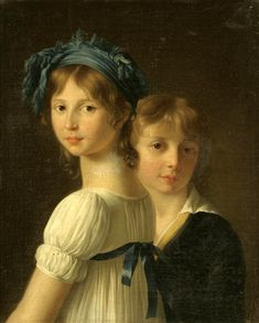 A Sister and her Younger Brother by Marie-Victoire Lemoine (1754 – 1820, French)