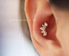 Krone Crown Ear Piercing Jewelry Stud Product Information Product Type: Straight Barbell in Surgical Stainless Steel Gauge Size: 16 Gauge Wearable Barbell Length: Cartilage tragus Conch Helix earring stud crystal Tragus Piercings, Ear Piercing Helix, Conch Piercing Jewelry, Conch Earring, Cute Ear Piercings, Ear Jewelry, Cute Jewelry, Jewelry Ideas, Conch Stud