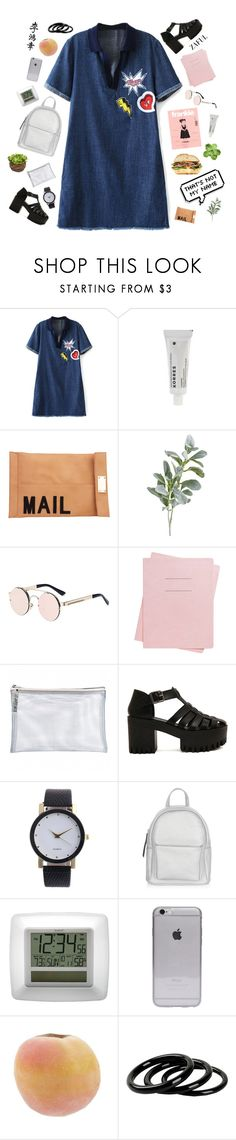 """#539 Beautiful day"" by mia5056 ❤ liked on Polyvore featuring Korres, Akira, Pier 1 Imports, Shinola, Susan Posnick, New Look, La Crosse Technology and Furla"