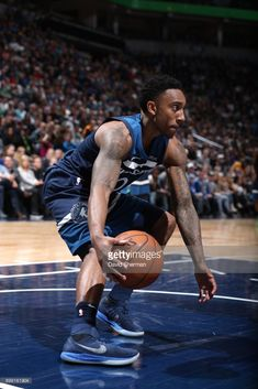 News Photo   Jeff Teague of the Minnesota Timberwolves handles. 2aa8283ee