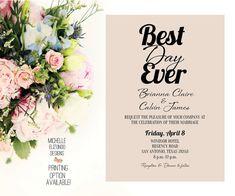 Wedding Invitation-Rustic-Digital File-5x7 by MElizondoDesigns