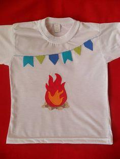 Kit com camisa festa junina (fogueira)