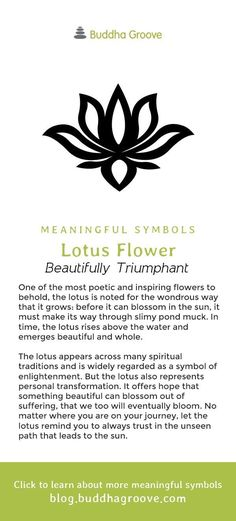 Meaningful Symbols – A Guide to Sacred Imagery - Lotus Flower - Beautifully Triumphant For thousands of years, humans have used symbols to communicate values, ideas, and profound concepts. Symbols require no words, yet they say so much. Meaningful Flower Tattoos, Meaningful Symbol Tattoos, Symbolic Tattoos, Meaningful Quotes, Beautiful Meaningful Tattoos, Beautiful Symbols, Bild Tattoos, Body Art Tattoos, Tatoos