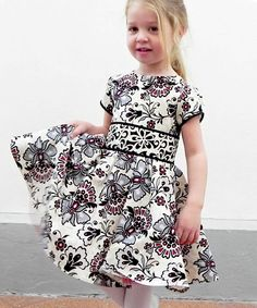 Amanda's Dress party dress sewing pattern for girls by Lily Bird Studio